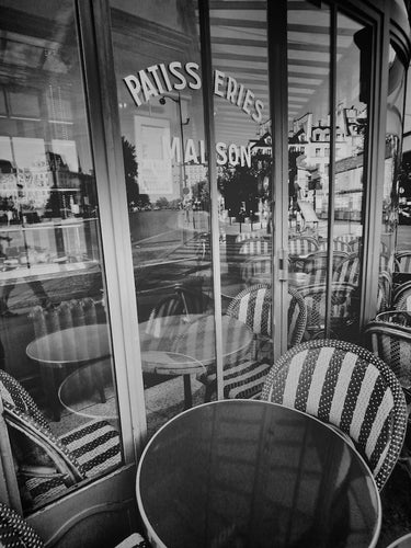 Cafe Maison, Paris France - Travel wall art prints by Edwin Datoc Gallery