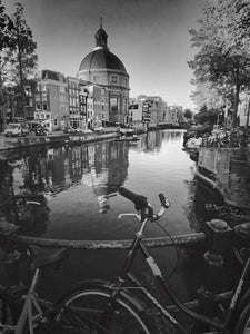 Bike at Canal 2/3, Amsterdam - Travel wall art prints by Edwin Datoc Gallery