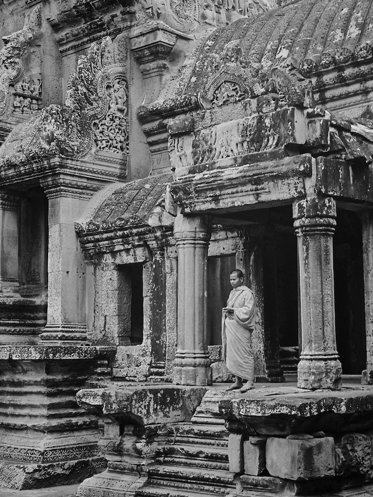 Buddhist Monk, Angkor Wat Cambodia - Travel wall art prints by Edwin Datoc Gallery