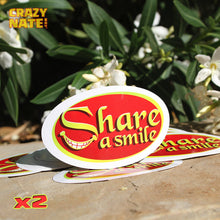 2 Share a Smile Stickers