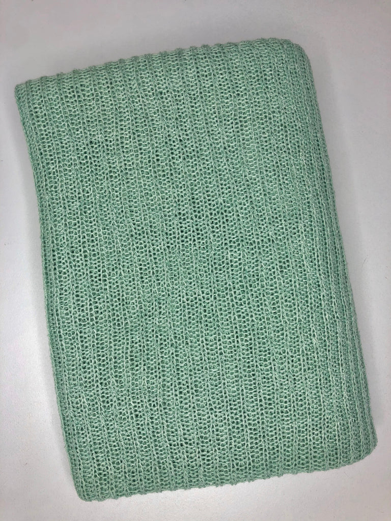 Mint open weave sweater knit