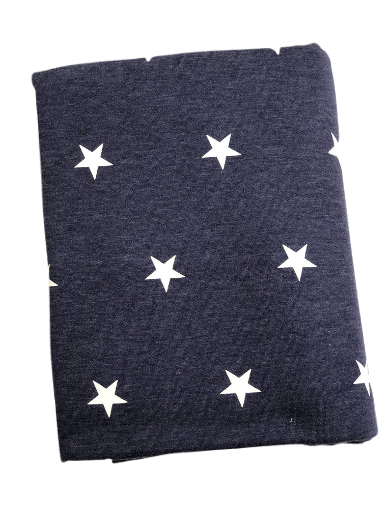 Stars brushed French terry knit