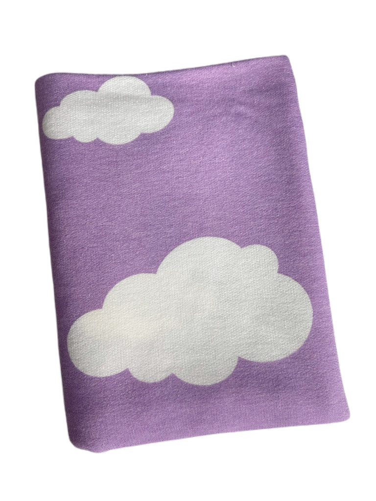 Purple clouds French terry knit