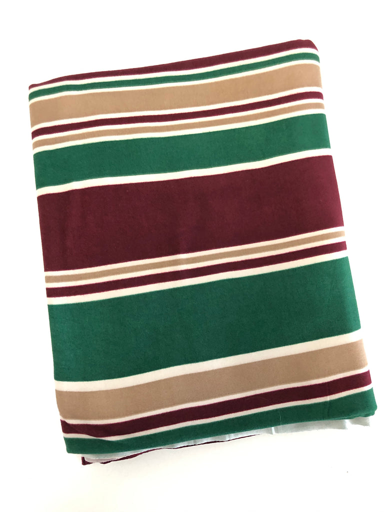 Christmas horizontal stripe brushed poly knit $5 and below