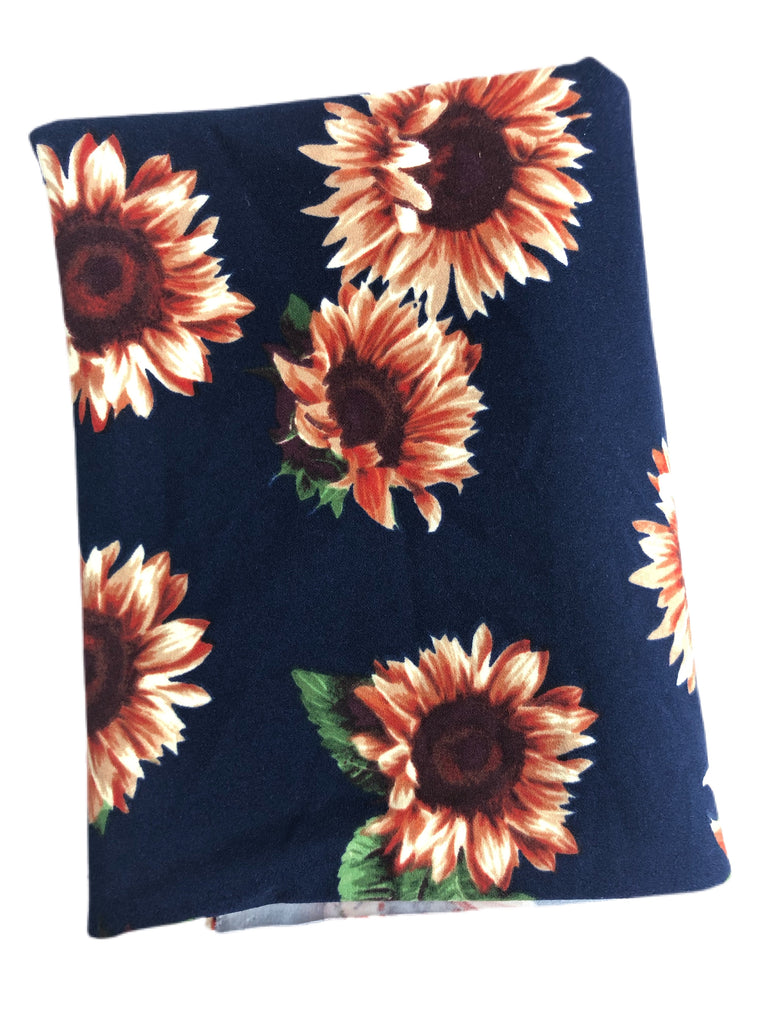 Sunflowers techno crepe knit
