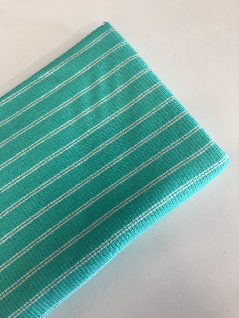 Aqua and white rib knit $5 and below