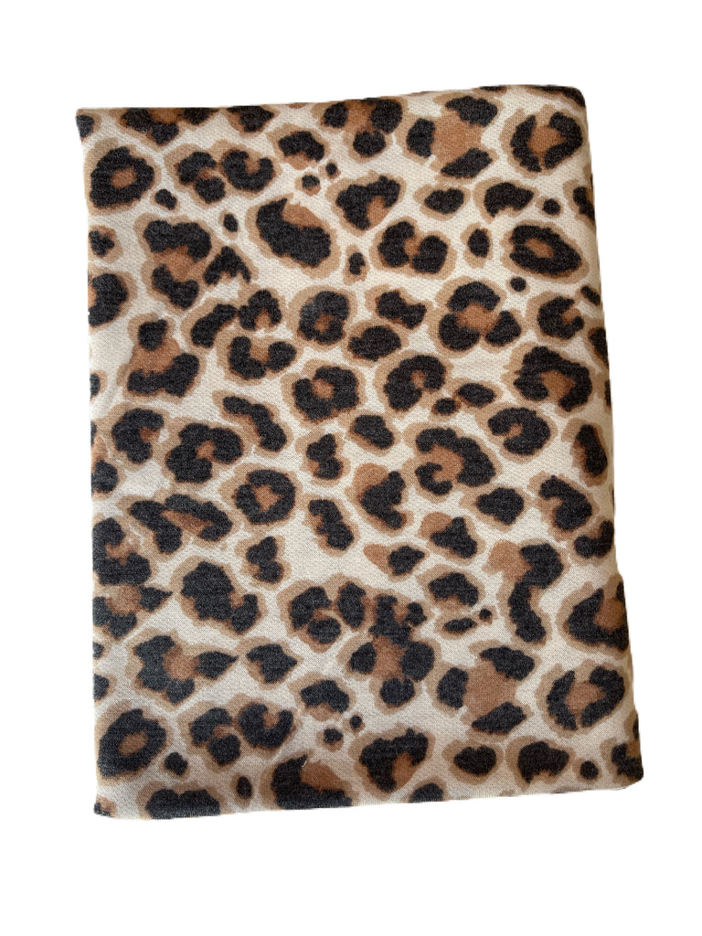 Cheetah French terry knit