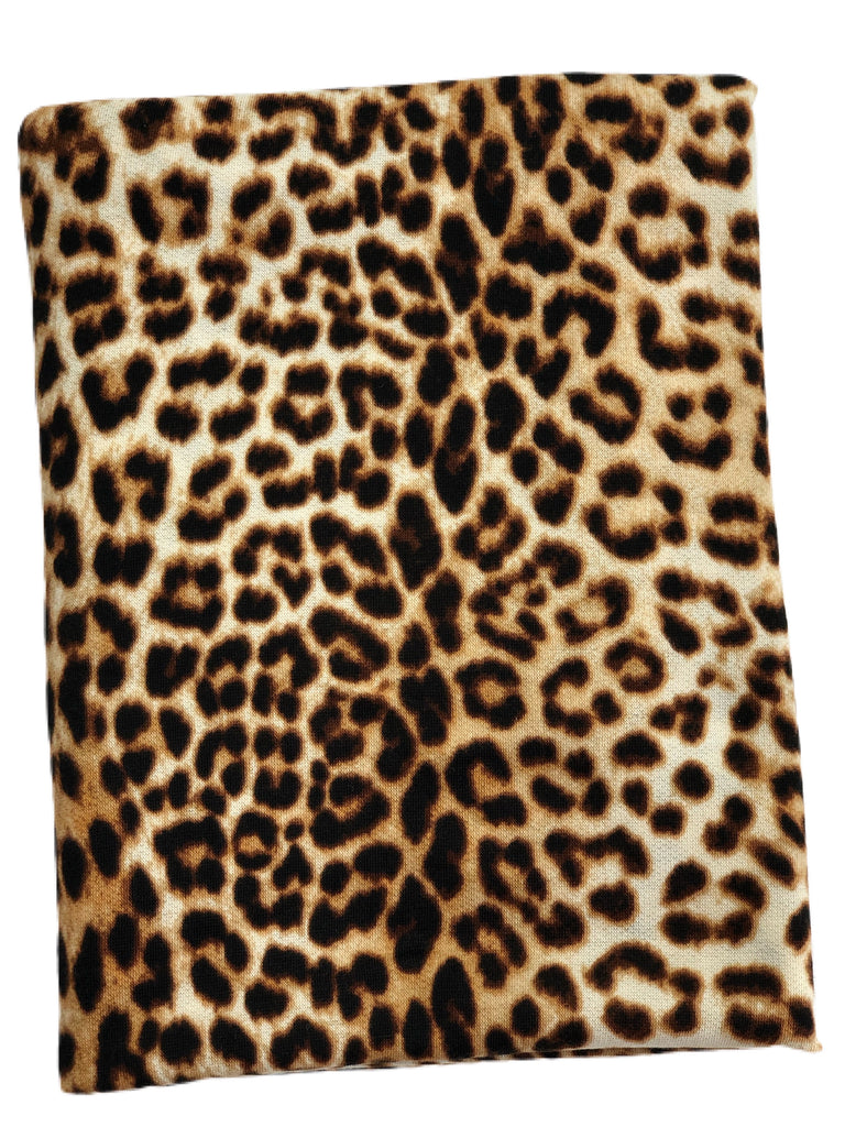 Leopard French terry knit