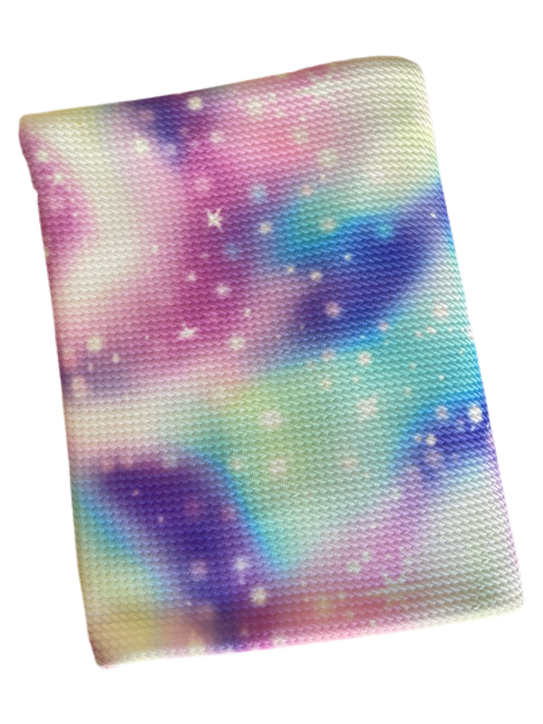 Rainbow galaxy bullet knit