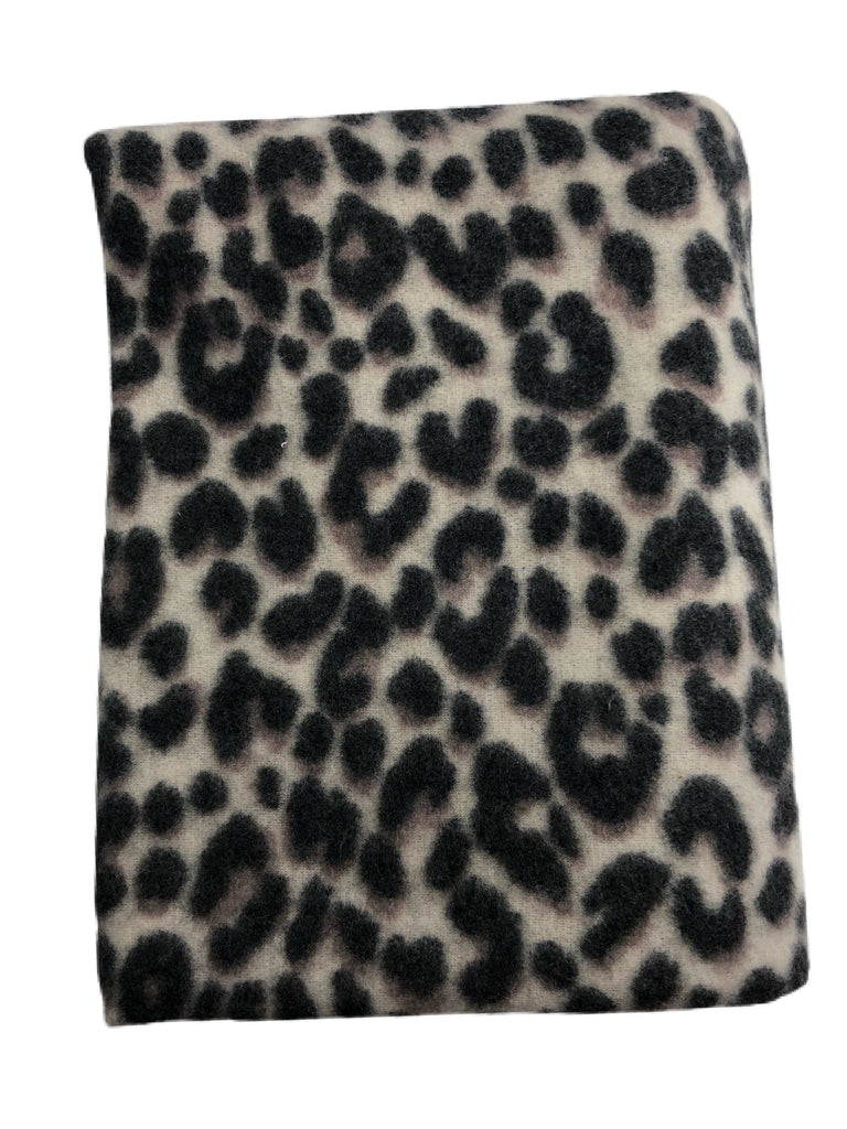 Cheetah brushed French terry knit
