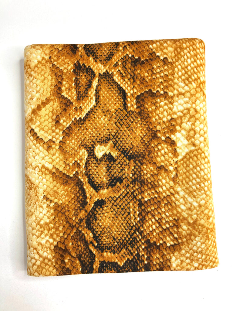 Gold snake skin brushed poly knit