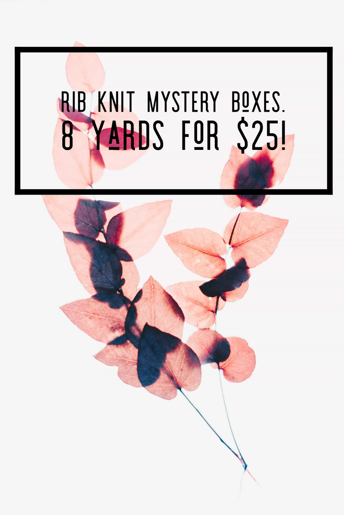 Rib knit mystery bundle 8 yards total