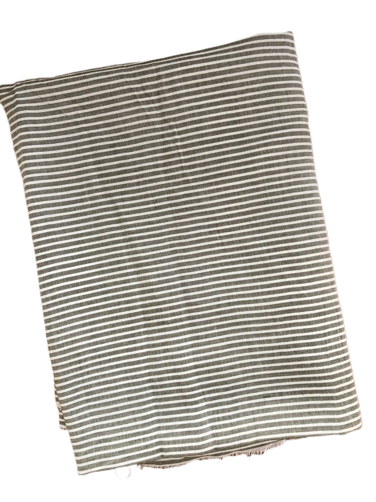 Light grey and white rayon challis woven