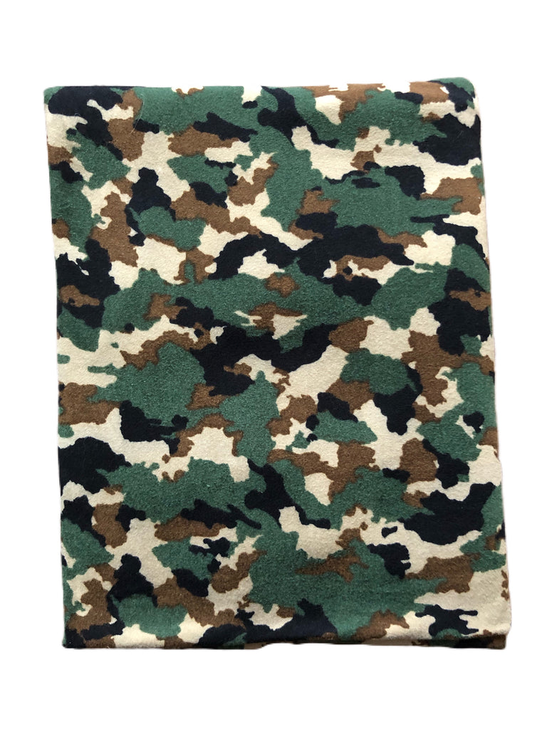 Digital camo brushed poly knit