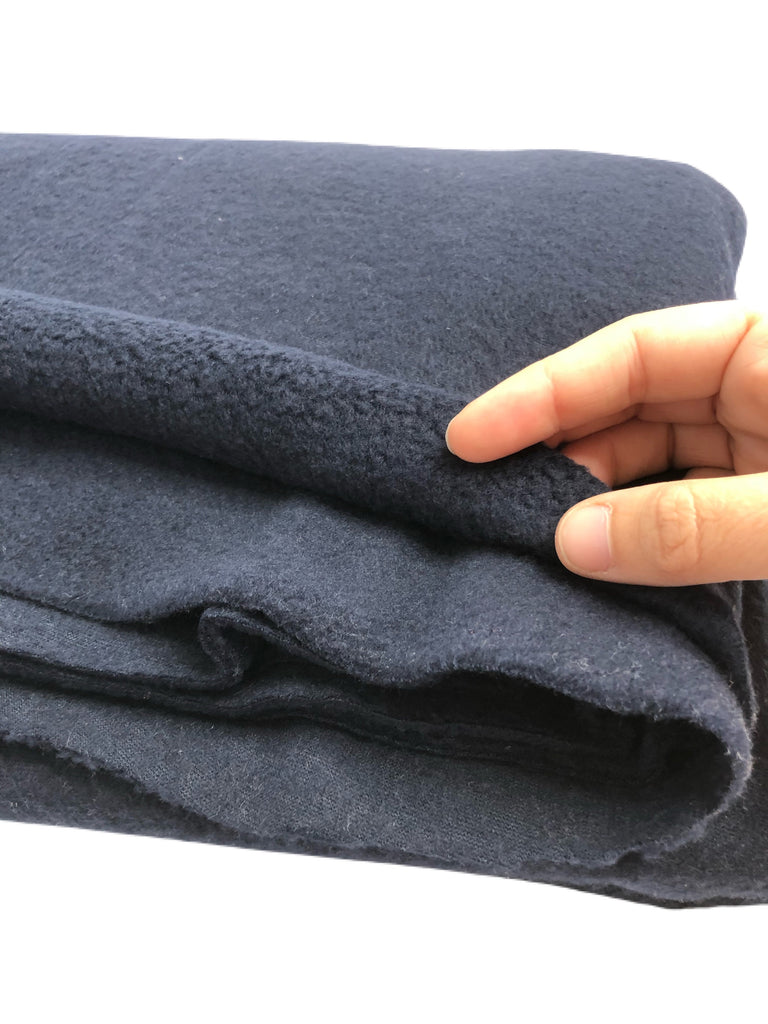 Navy polar fleece knit