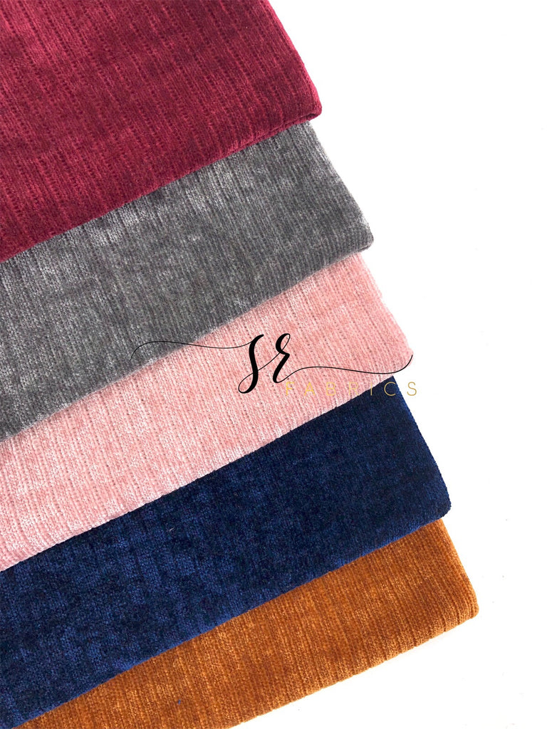 Chenille knit retail (may not be consecutive yardage)