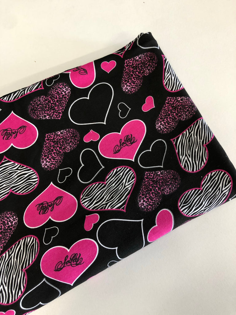 Hearts cotton spandex $5 and below