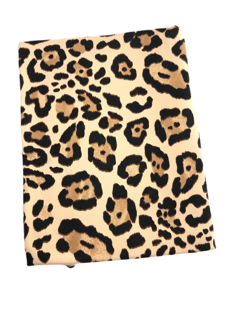 New leopard brushed poly knit