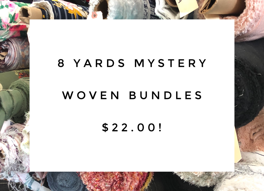 Mystery woven bundles 8 yards total *sale*