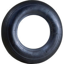 Wheelbarrow Tire - Ribbed Tread - 2 Ply Tubless
