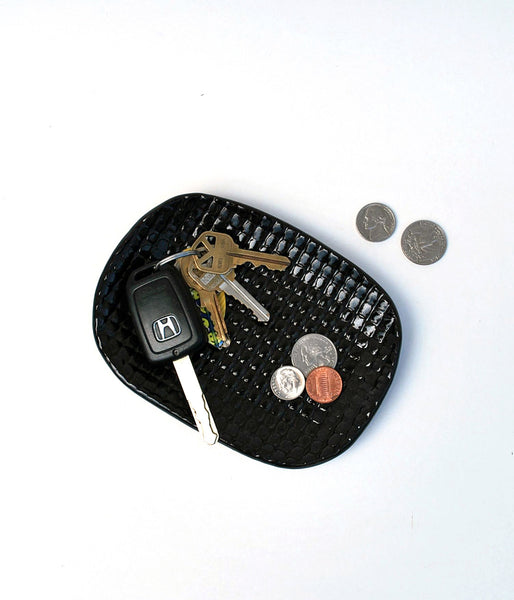 Black ceramic key holder and change holder