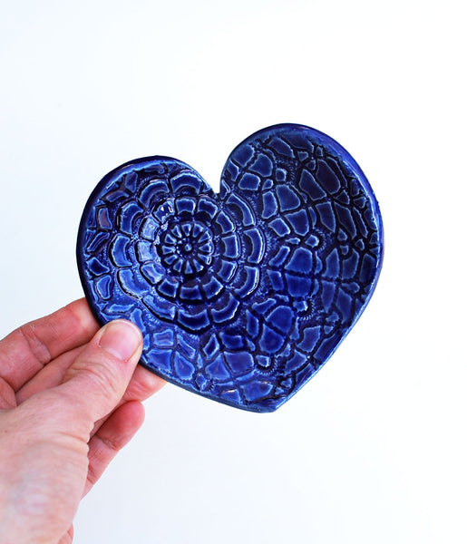 Blue Heart Dish - Large