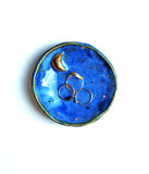 Blue and Gold Crescent Moon Dish