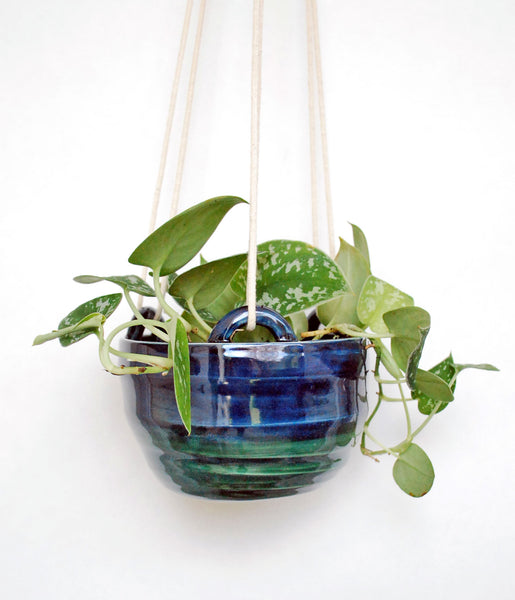 Hanging Planter - Blue Green Ombre