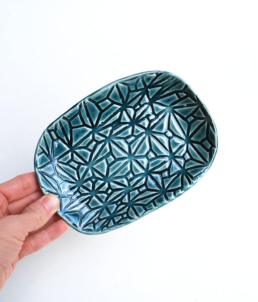Teal Blue Soap Dish