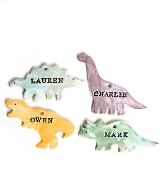 Dinosaur Ornaments, Personalized