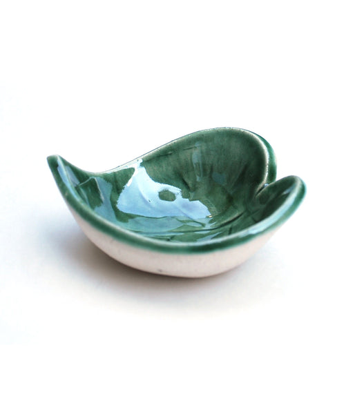 Green Leaf Jewelry Bowl