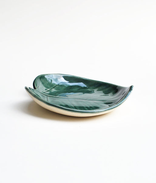 Monstera leaf bowl by Lauren Sumner Pottery