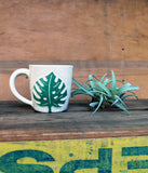 Monstera Leaf Ceramic Coffee Mugs