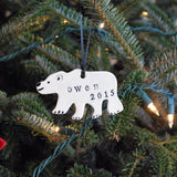 Polar Bear Ornament, Personalized