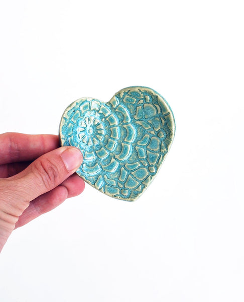 Turquoise Heart Dish