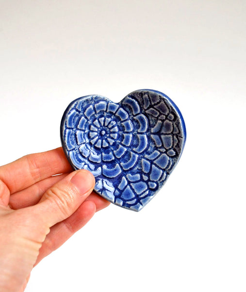 Blue Heart Dish - Small