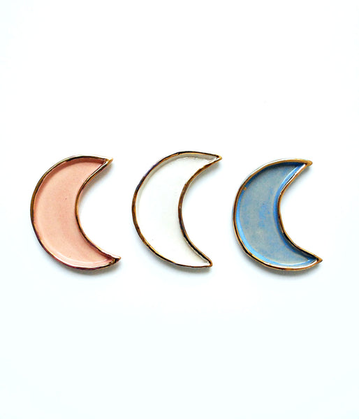 Moon Dish - Gold - White, Blue, Pink