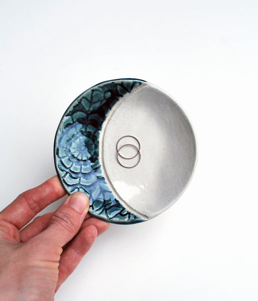 Blue Moon Ceramic Jewelry Dish