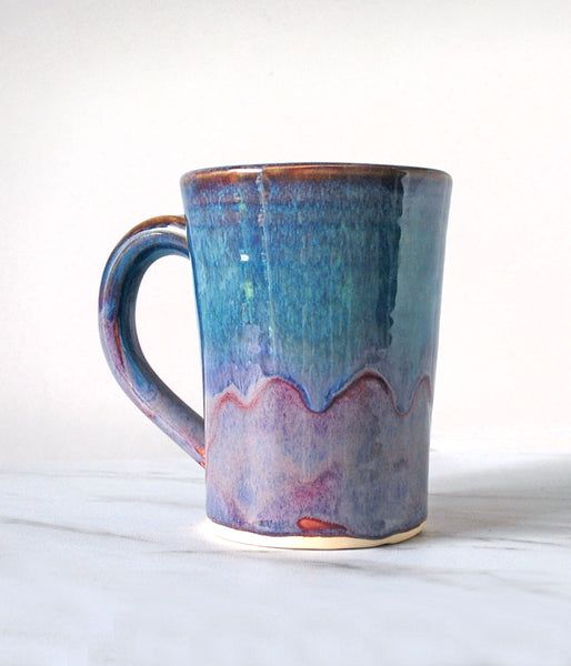 Purple and Green-Blue Coffee Mug