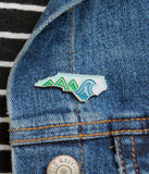North Carolina Mountain to Sea Enamel Pin