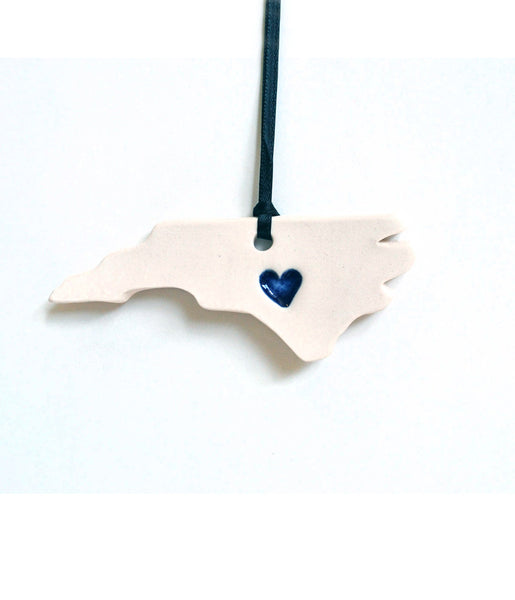 NC Heart Ornament