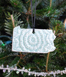 State Ornament - Lace - Made to Order