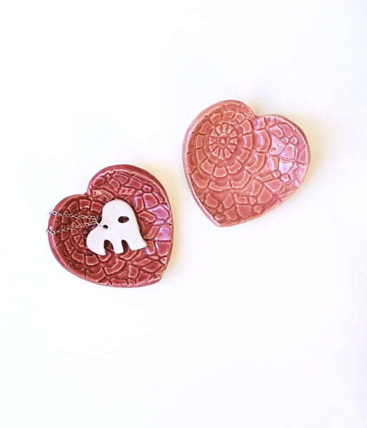 Pink Heart Dish - Small