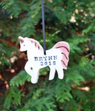 Unicorn Ornament, Personalized