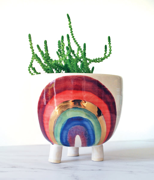 Rainbow Planter - Medium with tripod legs