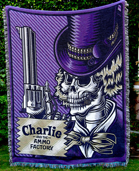 Charlie & the Ammo Factory Woven Blanket