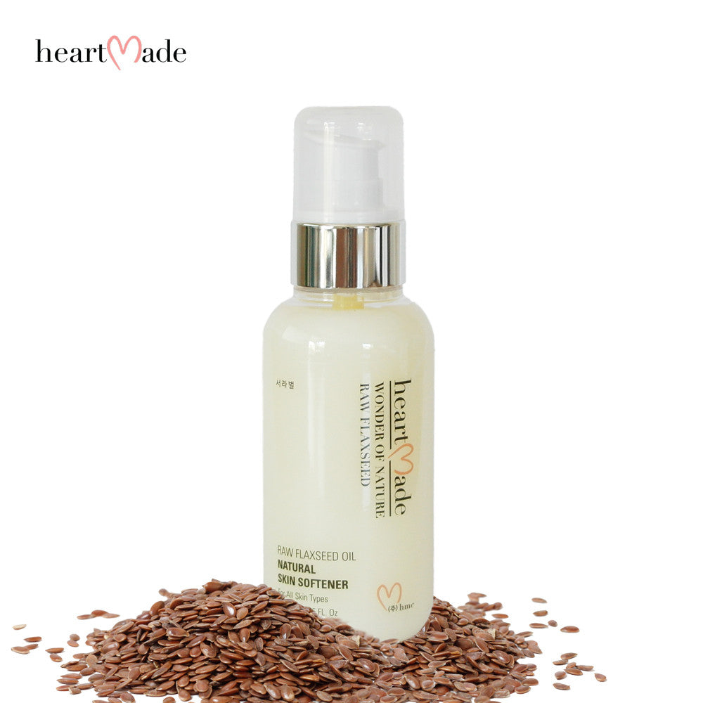 Heartmade Raw Flax Seed  Oil Natural Skin Softener