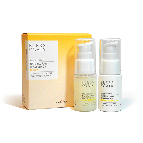 Heartmade Bless of Gaia Mini Kit, Traveler Kit (Skin Softener 20ml, Essence Emulsion 20ml)