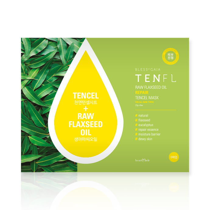 Heartmade Bless of Gaia Tenfl Facial Mask Sheet(6 sheets/carton)