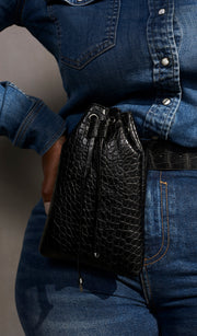On The Go | Crocodile Bucket Fanny pack